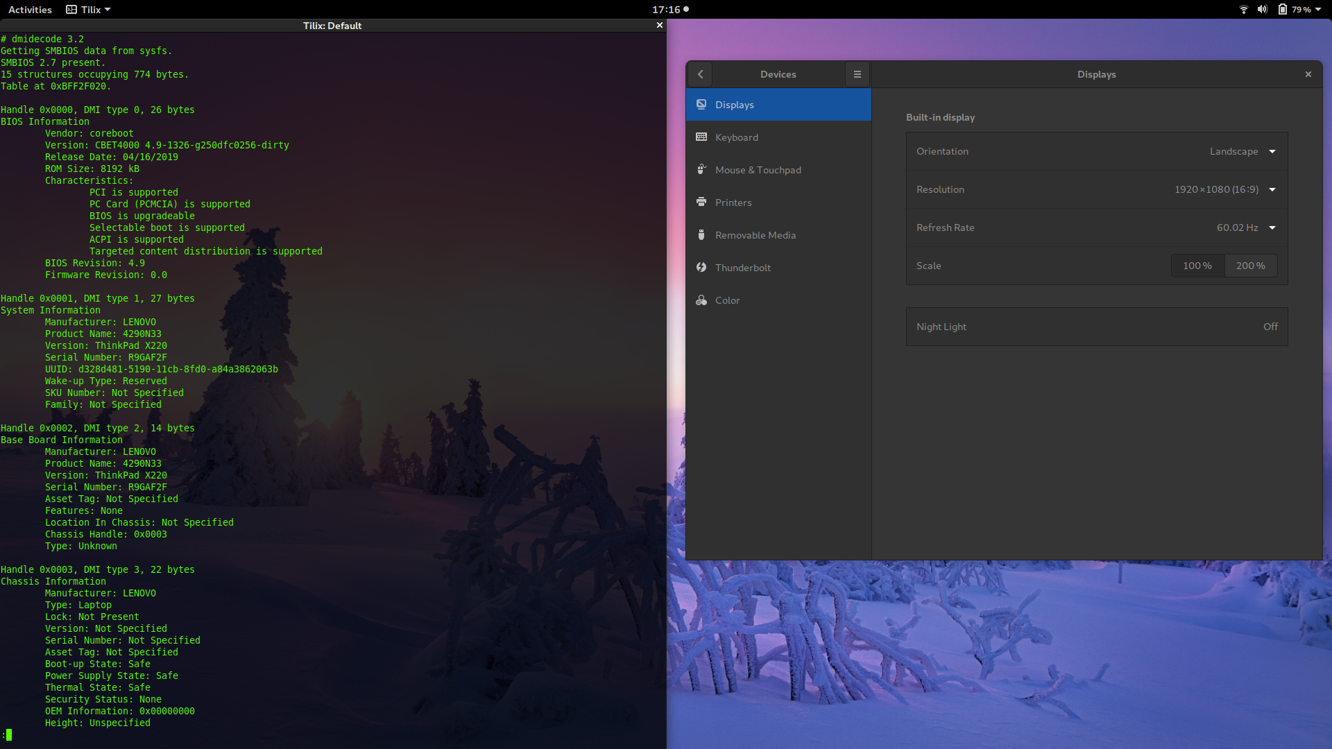 Thinkpad X220 FullHD mod with LVDS coreboot patch